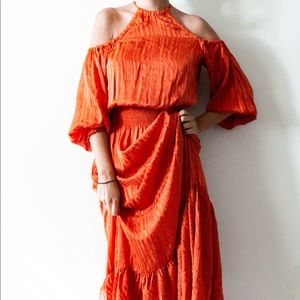 Resno Silk Maxi Dress
